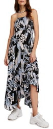 Free People Heat Wave Floral Print High/Low Dress