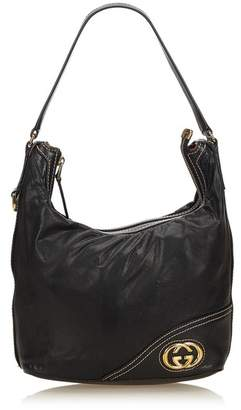 Gucci Vintage Medium Guccissima Leather Britt Hobo