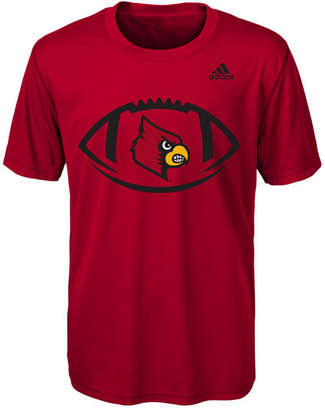 adidas Louisville Cardinals Sideline Pigskin T-Shirt, Big Boys (8-20)