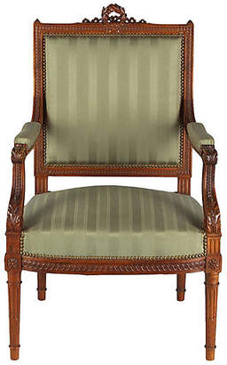 One Kings Lane Vintage French Louis XVI-Style Armchair - C.1900 - Negrel Antiques