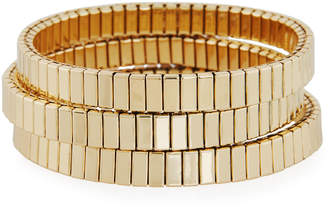 Neiman Marcus Watch Out Stretch Bracelet Golden