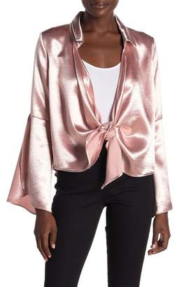Honeybelle Honey Belle Satin Long Sleeve Top