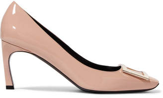 Roger Vivier Belle Vivier Trompette Patent-leather Pumps - Neutral