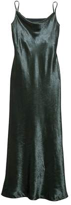 Banana Republic Textured Satin Bias-Cut Maxi Slip Dress