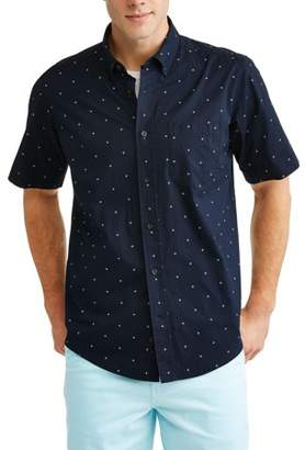 George Men's Printed Stretch Woven Shirt