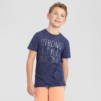 Cat & Jack Boys' Strong Like Mom Graphic T-Shirt Cat & Jack - Navy $6 thestylecure.com