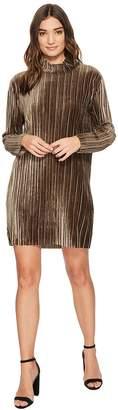 MinkPink Pleated Velvet Dress Women's Dress