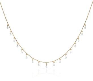 Tresor Collection Organic Diamond Baroque Necklace In 18K Yellow Gold