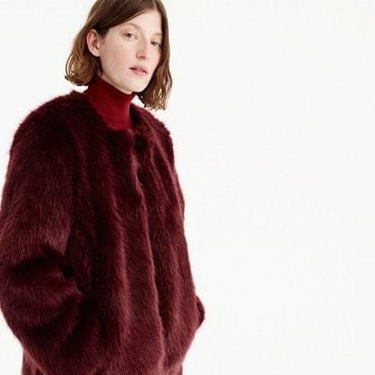 Collection faux fur coat