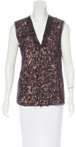 Bottega Veneta Bottega Veneta Sleeveless Lace Top