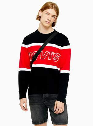 Levi's TopmanTopman Black Colourblock Sweatshirt