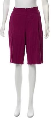 Issey Miyake High-Rise Shorts