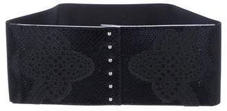 Wolford Snakeskin Wide Belt