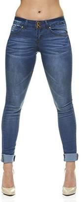 Cover Girl Women's Plus Size Five Pocket Wash Slim Fit Skinny