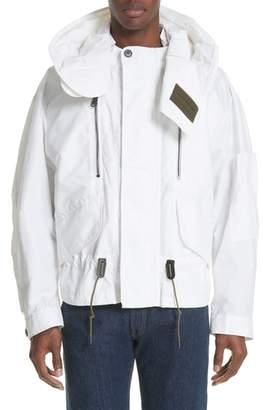 Burberry Shenwood Tech Jacket with Detachable Hood