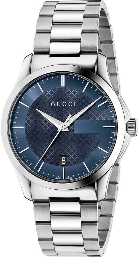timeless watches shopstyle gucci ya126440 g timeless stainless steel watch