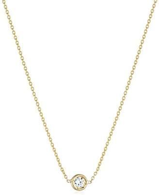 Bezel set diamond necklace shopstyle at amazon roberto coin tiny treasures single station bezel set diamond pendant necklace aloadofball Choice Image