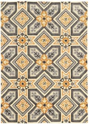 Linon Trio Geometric Floral II Rug