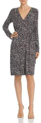 Adrianna Papell Faux-Wrap Printed Jersey Dress