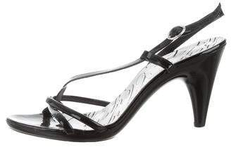 Robert Clergerie Patent Leather Multistrap Sandals