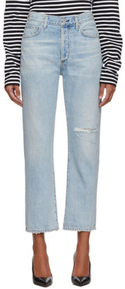 Citizens of Humanity Blue McKenzie Curved Straight Jeans