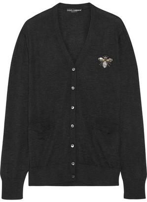 Dolce & Gabbana - Embellished Cashmere Cardigan - Black $1,545 thestylecure.com
