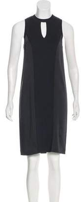Rag & Bone Sleeveless Satin-Paneled Dress