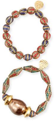 Devon Leigh Set of Two Beaded Bracelets
