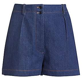 Alaia Women's One Pocket Denim Shorts