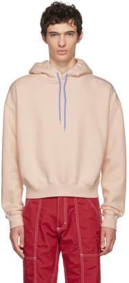 Eckhaus Latta Pink Contrast Logo Hoodie