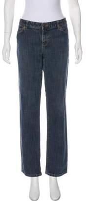 Michael Kors Mid-Rise Straight-Leg Jeans blue Mid-Rise Straight-Leg Jeans