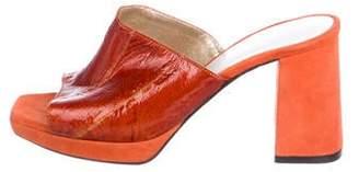 Amélie Pichard Suede Mid-Heel Sandals