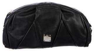 MCM Pleated leather Wrist Pouch