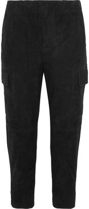 Vince - Suede Cargo Pants - Black $995 thestylecure.com