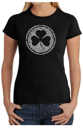 Women Word Art T-Shirt - When Irish Eyes Are Smiling