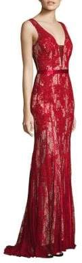 Basix II Black Label Sleeveless Lace Gown