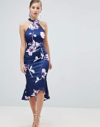 AX Paris Pephem Midi Dress In Floral Print