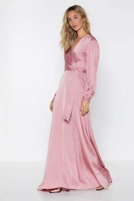 Nasty Gal Satin Love Maxi Dress