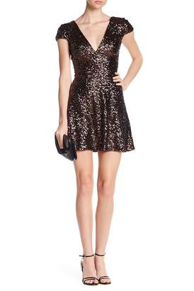 Dress the Population Georgina Sequin Fit & Flare Dress