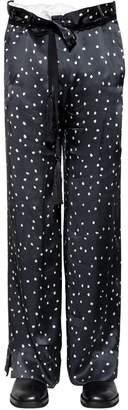 Ann Demeulemeester 31.5cm Polka Dot Printed Silk Pants