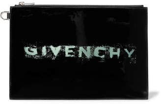 Givenchy Printed Patent-leather Pouch - Black