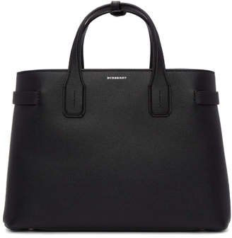 Burberry Black Medium Banner Structured Tote
