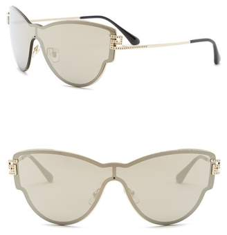 Versace Shield 42mm Metal Frame Sunglasses