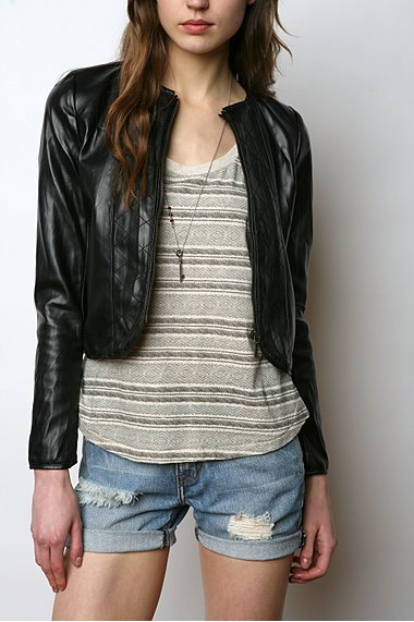 Silence & Noise Quilted Bomber