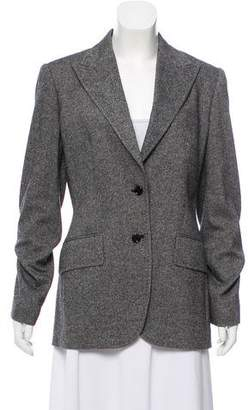 Dolce & Gabbana Tweed Peak-Lapel Blazer