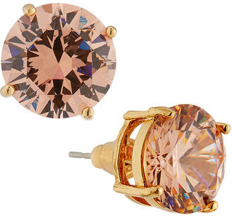 Emily and Ashley Greenbeads By Round Crystal Stud Earrings, Blush