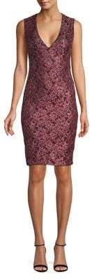 GUESS Two-Tone Lace Bodycon Dress