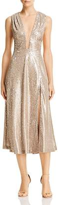 Lee SAU Bianca Sequined Midi Dress
