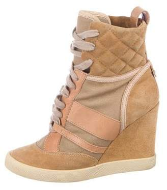 80d97d71b96 Pre-Owned at TheRealReal · Chloé Suede Wedge Sneakers