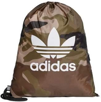 adidas Boys Camo Gym Sack - Brown